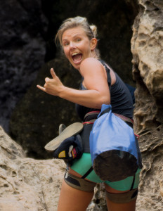 Christine West, Fins to Spurs, rock climbing, railay beach, Thailand