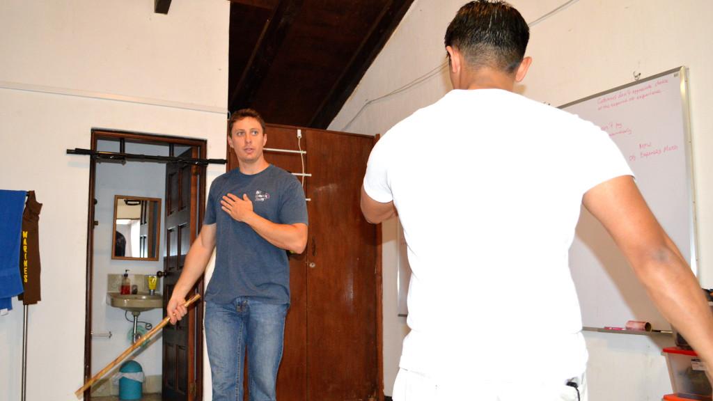 Adam Maire, fins to spurs, Kali in Antigua, Ron Fortin, Kali Antigua, guatemala, Stick fighting