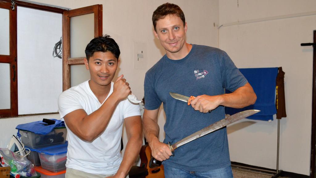 Adam Maire, Ron Fortin, Kali in Antigua, fins to spurs, Guatemala, Kali Antigua, Training pose