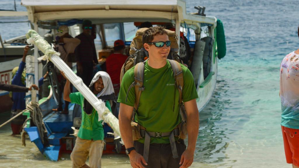 Adam maire, Fins to spurs, Back Underwater, Gili trawangan, Indonesia