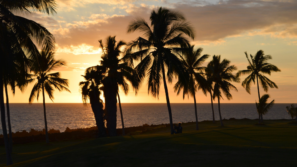 fins to spurs, work in hostels, big island, hawaii, sunset