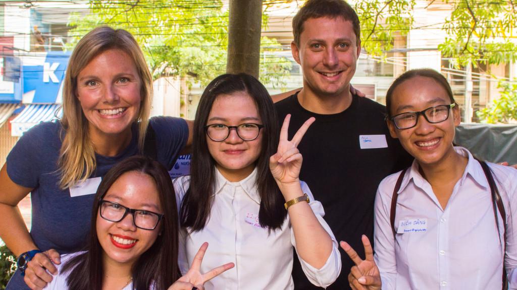 Adam Maire, Christine West, Nha Trang, Volunteer in Vietnam, Lanterns