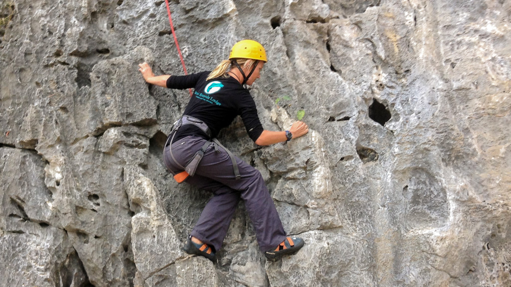 Christine West, Fins to Spurs, Cat Ba, Vietnam, Rock Climbing, Asia Outdoors