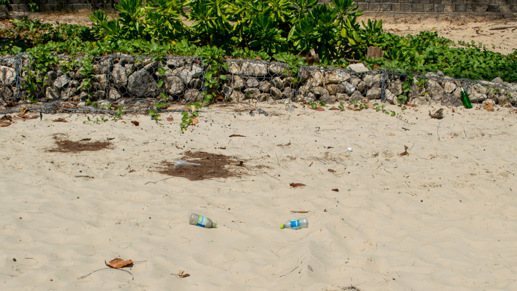 Bottles, Beach Trash, Fins to Spurs, Ao Nang, Thailand, Beach Clean Up