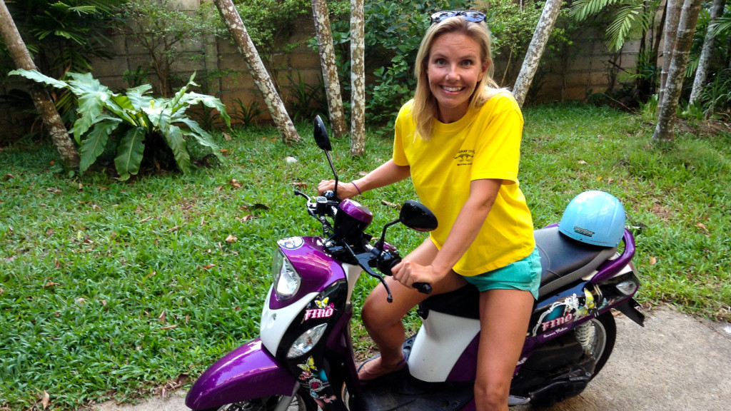 Christine West, Motorbike Fins to Spurs, Diving in Ao Nang, Thailand