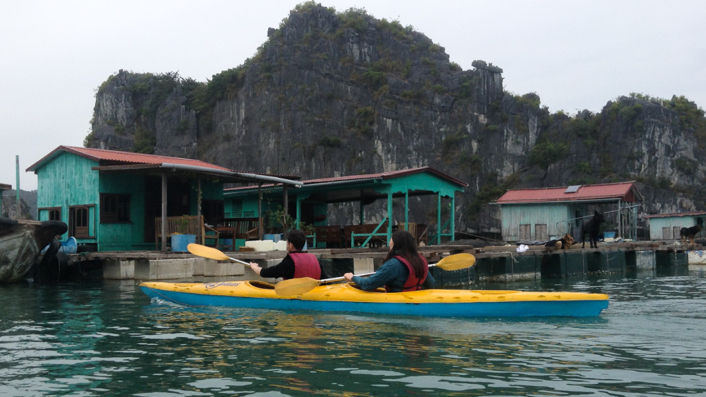 Floating houses, Fins to Spurs, Cat Ba, Vietnam, HaLong Bay
