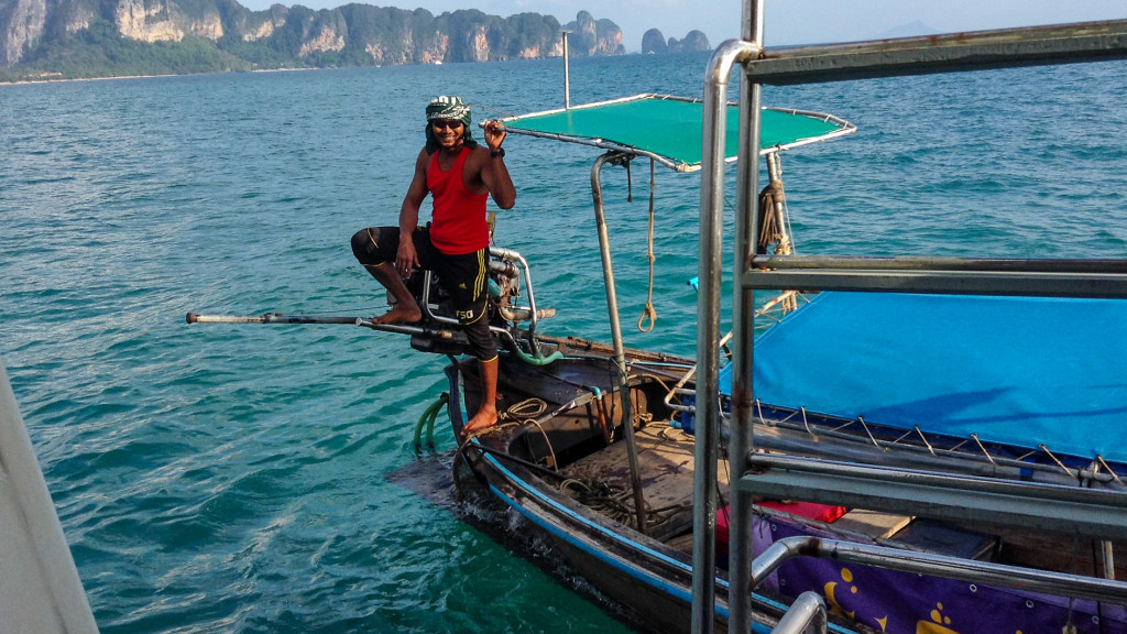 Thai Long Tail Driver, Fins to Spurs, Diving in Ao Nang, Thailand
