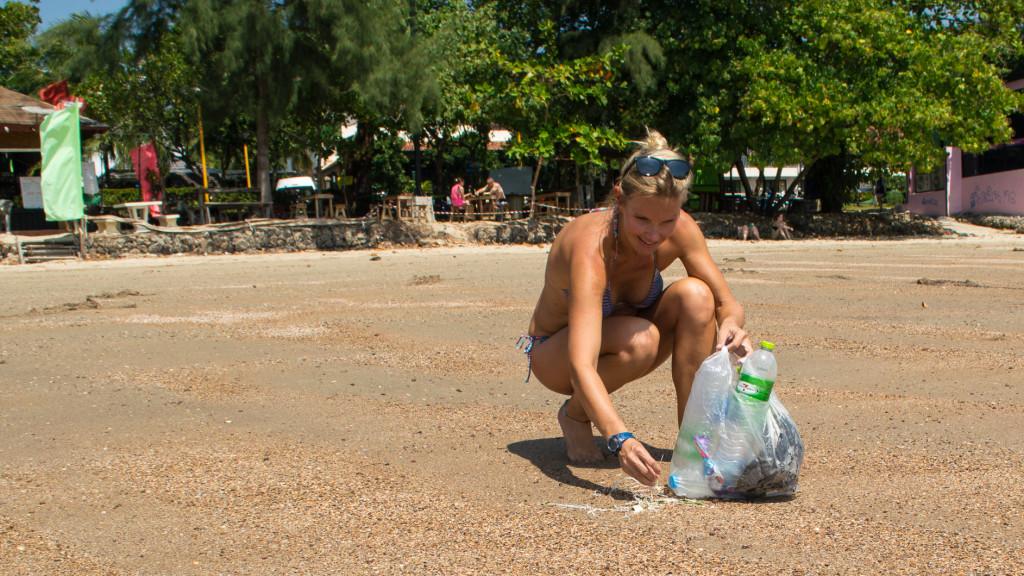Christine West, Plastic, Beach Trash, Fins to Spurs, Ao Nang, Thailand 4