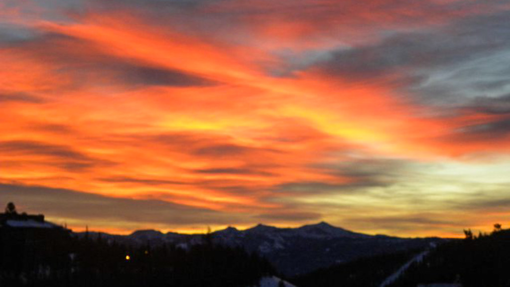 Montana Sunset, Ski Resort, Montana, Fins to Spurs, Edit