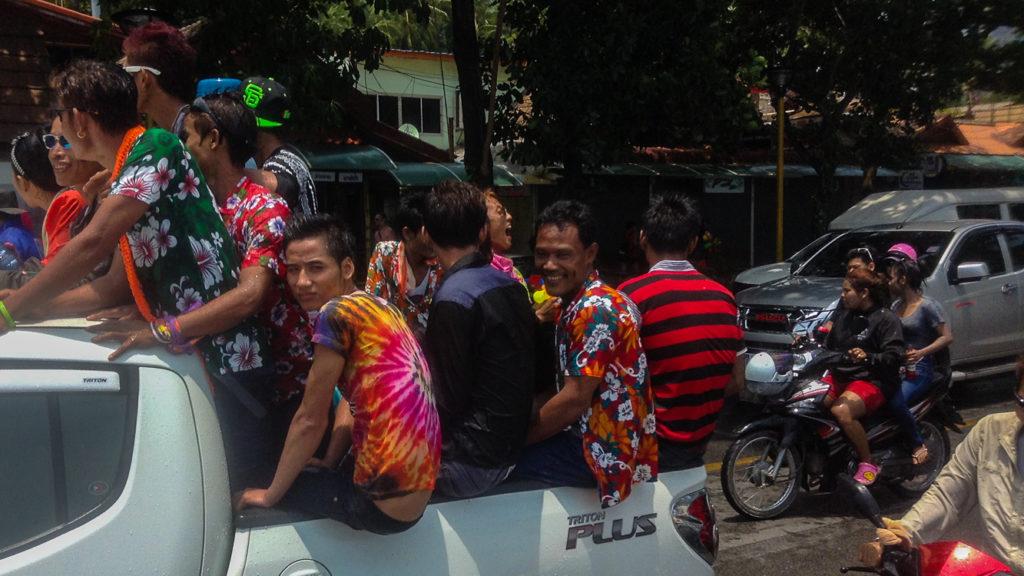 Fins to Spurs, Songkran, Truck Load, Thailand, Ao Nang, 2016