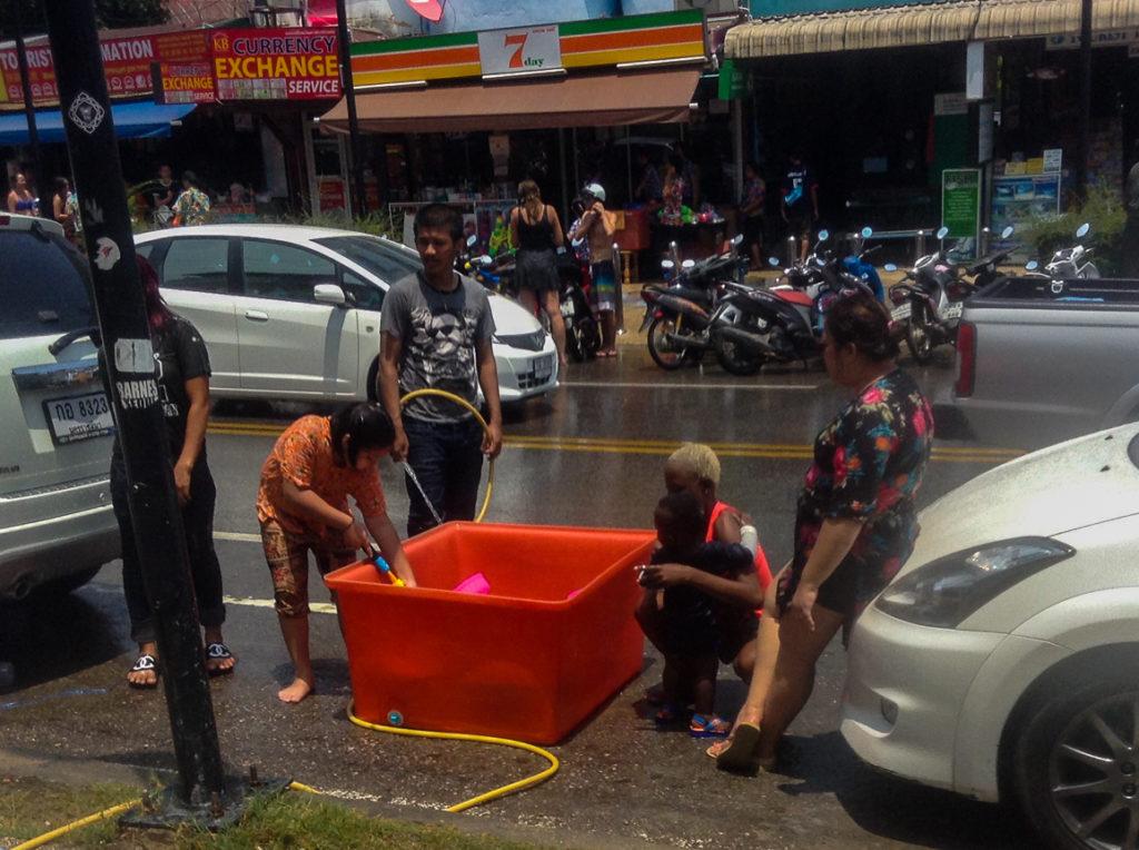 Fins to Spurs, Songkran, Water Tank, Thailand, Ao Nang, 2016