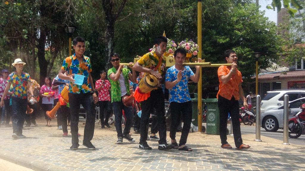 Fins to Spurs, Songkran,Parade, Thailand, Ao Nang, 2016