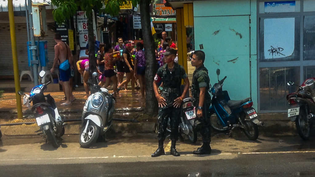 Fins to Spurs, Songkran,Thai Military, Thailand, Ao Nang, 2016