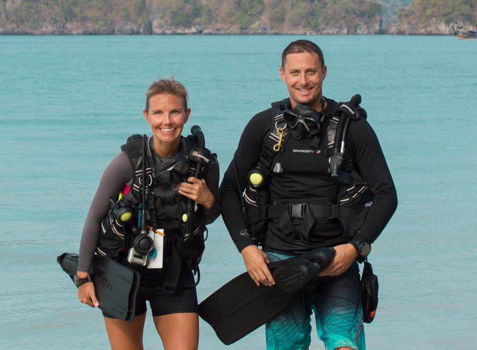Christine West, Adam Maire, Fins to Spurs, AmbassaDiver, Thailand, Scuba dive