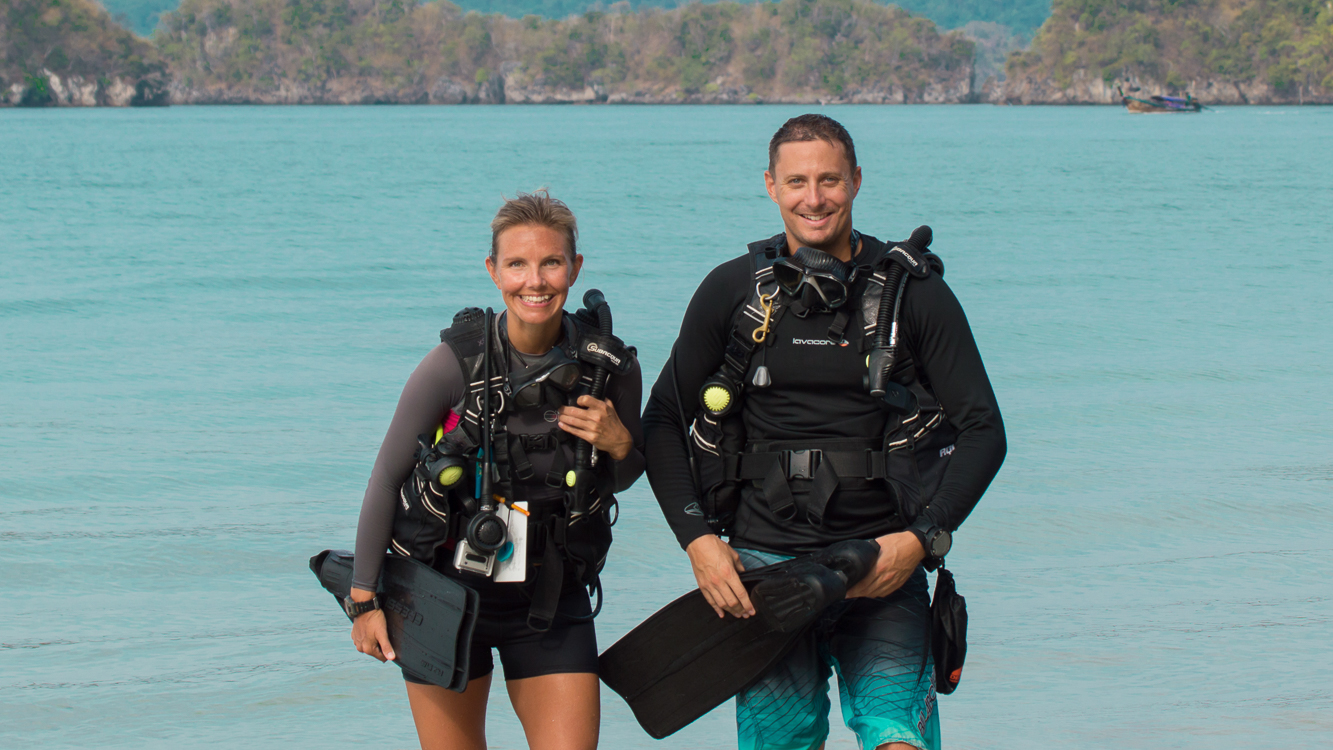 Christine West, Adam Maire, Fins to Spurs, AmbassaDivers, Thailand, Scuba dive