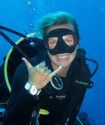 christine west, PADI scuba diver, ambassadiver, sea star foundation
