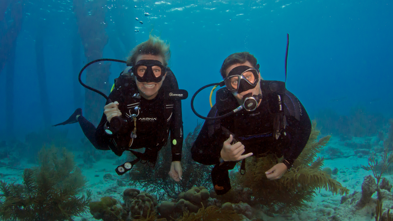 Christine West, Adam Maire, Bonaire, scuba dive, Fins to Spurs