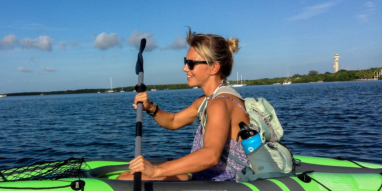 Christine West, Hydro Flask, Kayak, Fins to Spurs