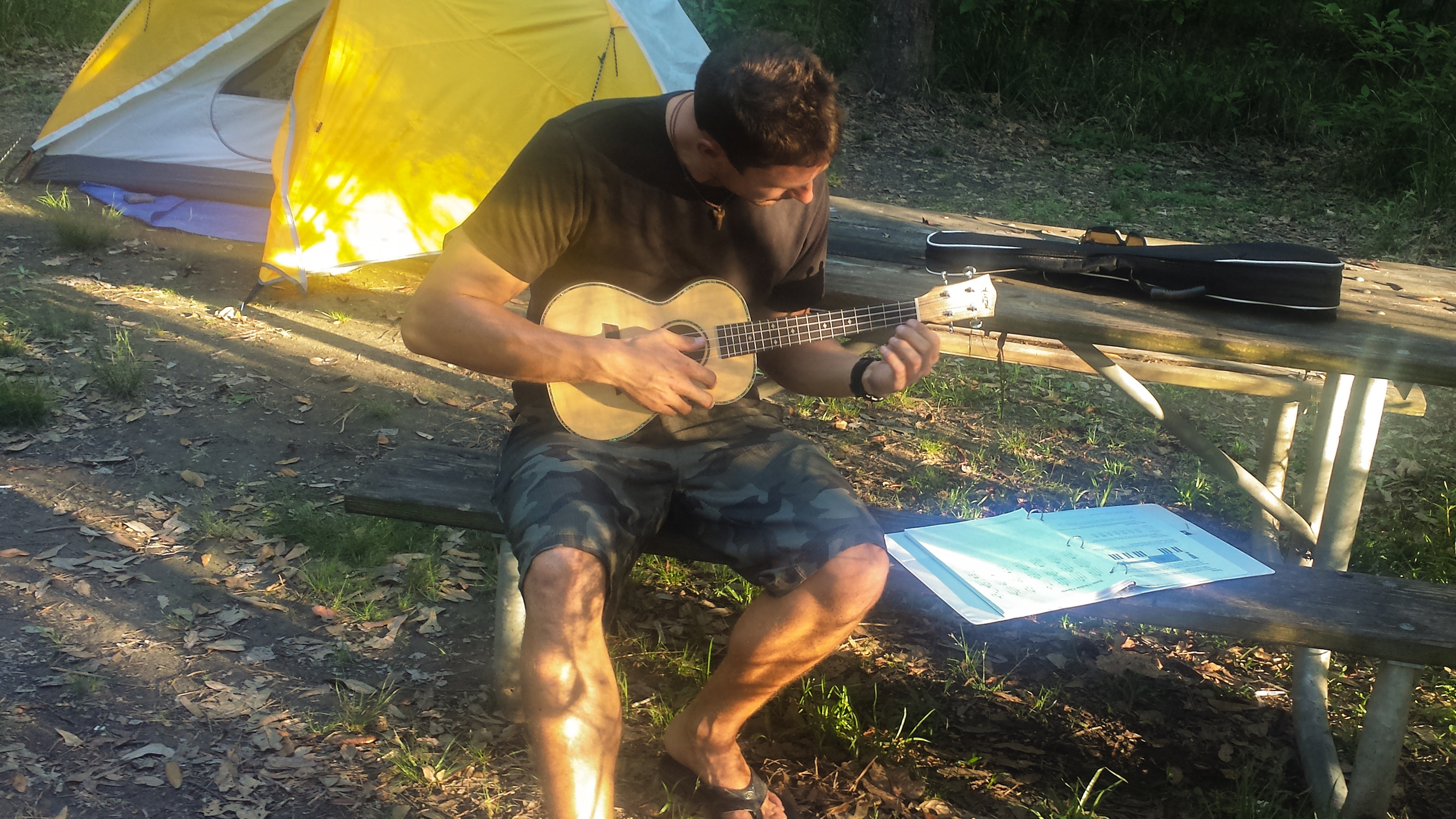 Fins to Spurs, Florida, Fontaine Bleau Park, #GetYourFinsOn, Adam Maire, ukelele