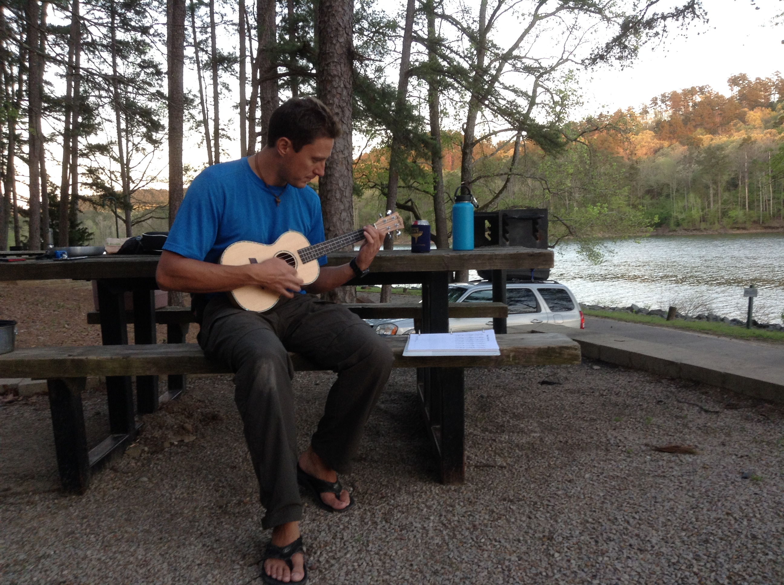 Camp Arkansas, Daisy State Park, Adam Maire, Uke, Hydroflask, Dive and Drive, #GetYourFinsOn